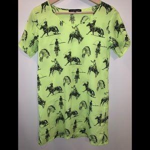 Nasty Gal Dresses - Hi! Expectation neon tshirt dress